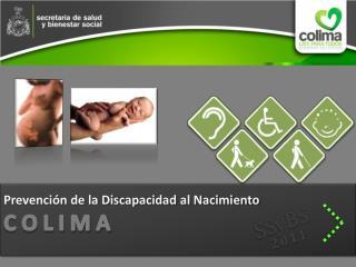 Prevención de la Discapacidad al Nacimiento C O L I M A