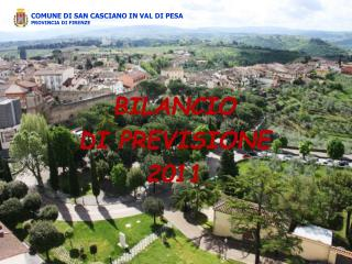 BILANCIO  DI  PREVISIONE 2011