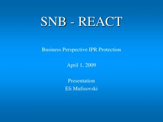 SNB - REACT