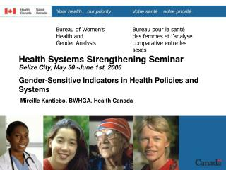 Bureau of Women's  Health and  Gender Analysis