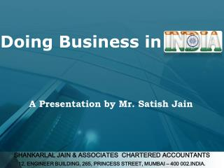 SHANKARLAL JAIN & ASSOCIATES  CHARTERED ACCOUNTANTS