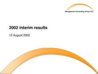 2002 interim results
