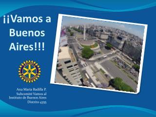 ¡¡Vamos a Buenos Aires!!!