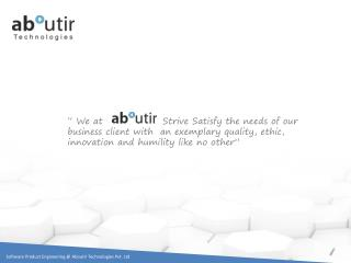 � We at                 Strive Satisfy the needs of our