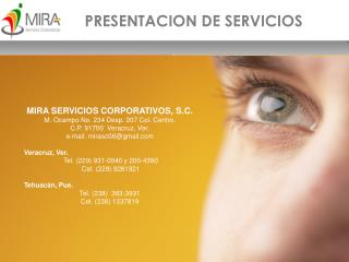 PRESENTACION DE SERVICIOS