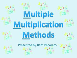 M ultiple M ultiplication M ethods