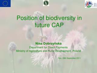 Position of biodiversity in future CAP
