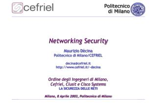 Networking Security