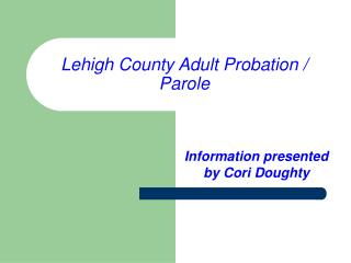 Lehigh County Adult Probation / Parole