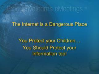 The Internet is a Dangerous Place