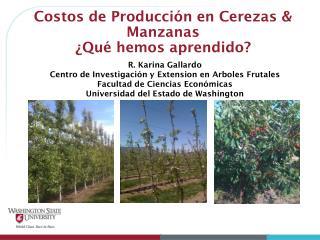Costos de Producción en Cerezas & Manzanas ¿Qué hemos aprendido?