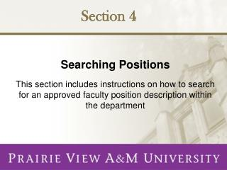 Searching Positions