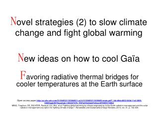 F avoring radiative thermal bridges for cooler temperatures at the Earth surface