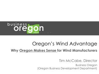 Oregon�s Wind Advantage