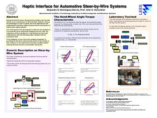 Haptic Interface for Automotive Steer-by-Wire Systems
