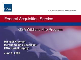 GSA Wildland Fire Program