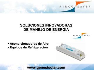 Acondicionadores de Aire   Equipos de Refrigeración