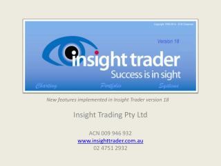 Insight Trader v18.1