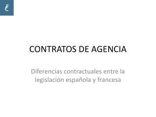 CONTRATOS DE AGENCIA