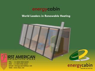 energy cabin World Leaders in Renewable Heating