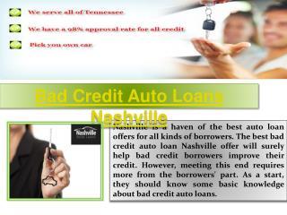 Auto Loans Nashville