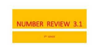 NUMBER  REVIEW  3.1