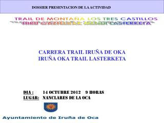 CARRERA TRAIL IRUÑA DE OKA IRUÑA OKA TRAIL LASTERKETA