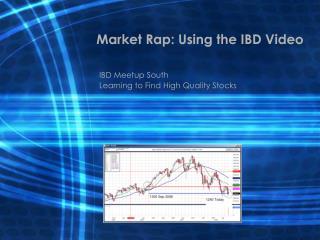 Market Rap: Using the IBD Video