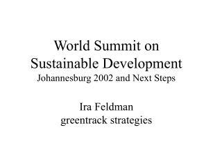 World Summit on