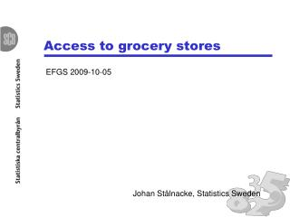 Access to grocery stores