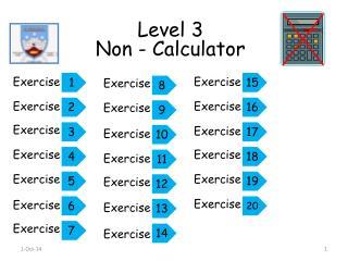 Level 3 Non - Calculator