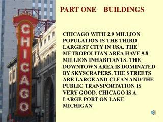 PART ONE    BUILDINGS