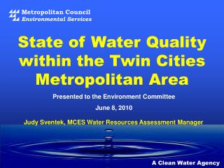 Council's Water Quality Goal