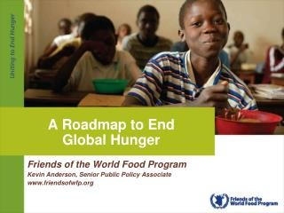A Roadmap to End Global Hunger