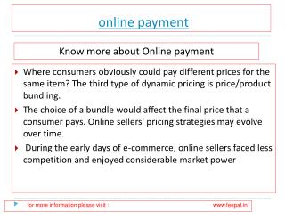 Know more about online payment