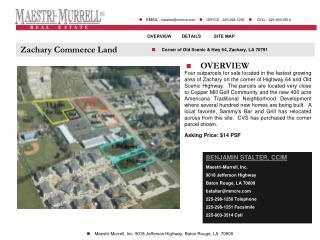 Zachary Commerce Land