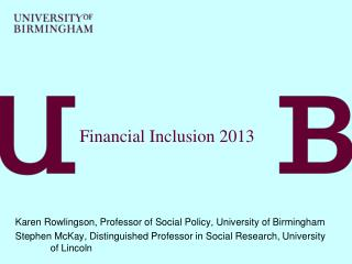 Financial Inclusion 2013