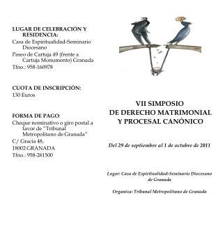 LUGAR DE CELEBRACIÓN Y  RESIDENCIA: Casa de Espiritualidad-Seminario Diocesano