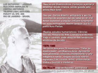 LUZ GUTIERREZ Y URQUIJO RUA DONA GERALDA 79  CENTRO HISTORICO  TELEFAX ( 024 ) 3371-1362