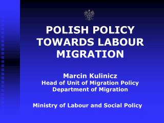 Ministry of Labour and Social  Policy