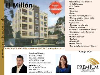 Máximo Méndez  Broker Owner Cel. 809-608-3737 Ofic . 809-701-6440 mndez82@yahoo