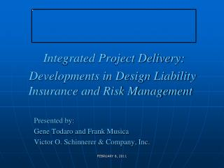 Integrated Project Delivery: