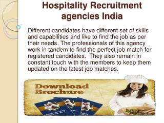 Hospitality Recruitment agencies India