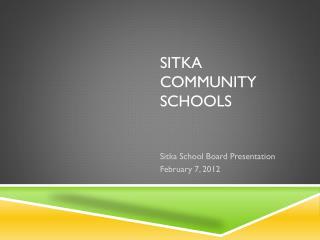 Sitka community schools