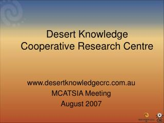 Desert Knowledge Cooperative Research Centre