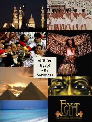 ePR for   Egypt - By Satvinder