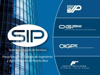 Presentación al Colegio de Ingenieros y Agrimensores de Puerto Rico