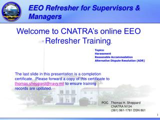 EEO Refresher for Supervisors & Managers