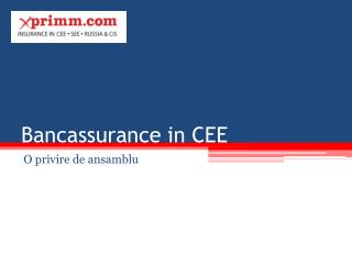 Bancassurance in CEE