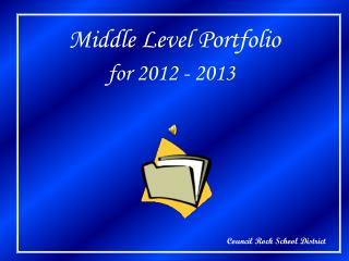 Middle Level Portfolio